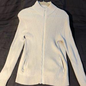 Cardigan sweater light zip up jacket